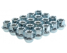 60 Degree Taper Silver Open End Wheel Nuts