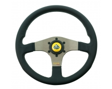 Momo Silver Spoke Tuner Steering Wheel