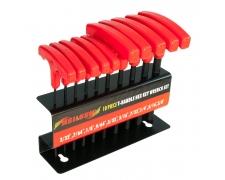 10 Piece Metric or Imperial T Handle Allen Key Set