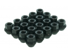 17mm Hex Open Ended Black Wheel Nuts
