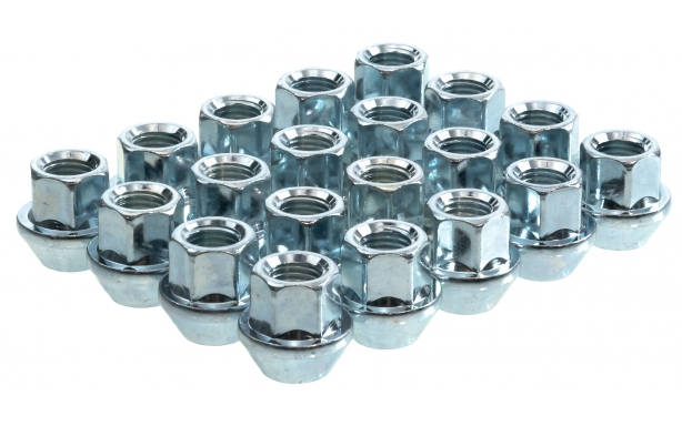 60 Degree Taper Silver Open End Wheel Nuts Image