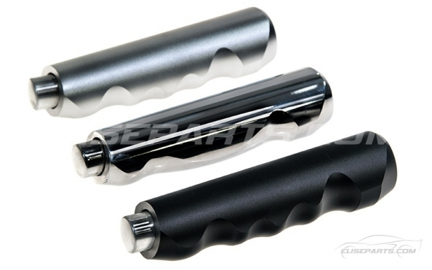 Silver-Polished-Satin Black Handbrake Grips Image